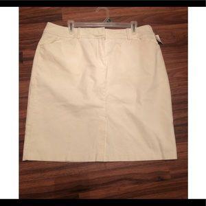 Winter white skirt size 16
